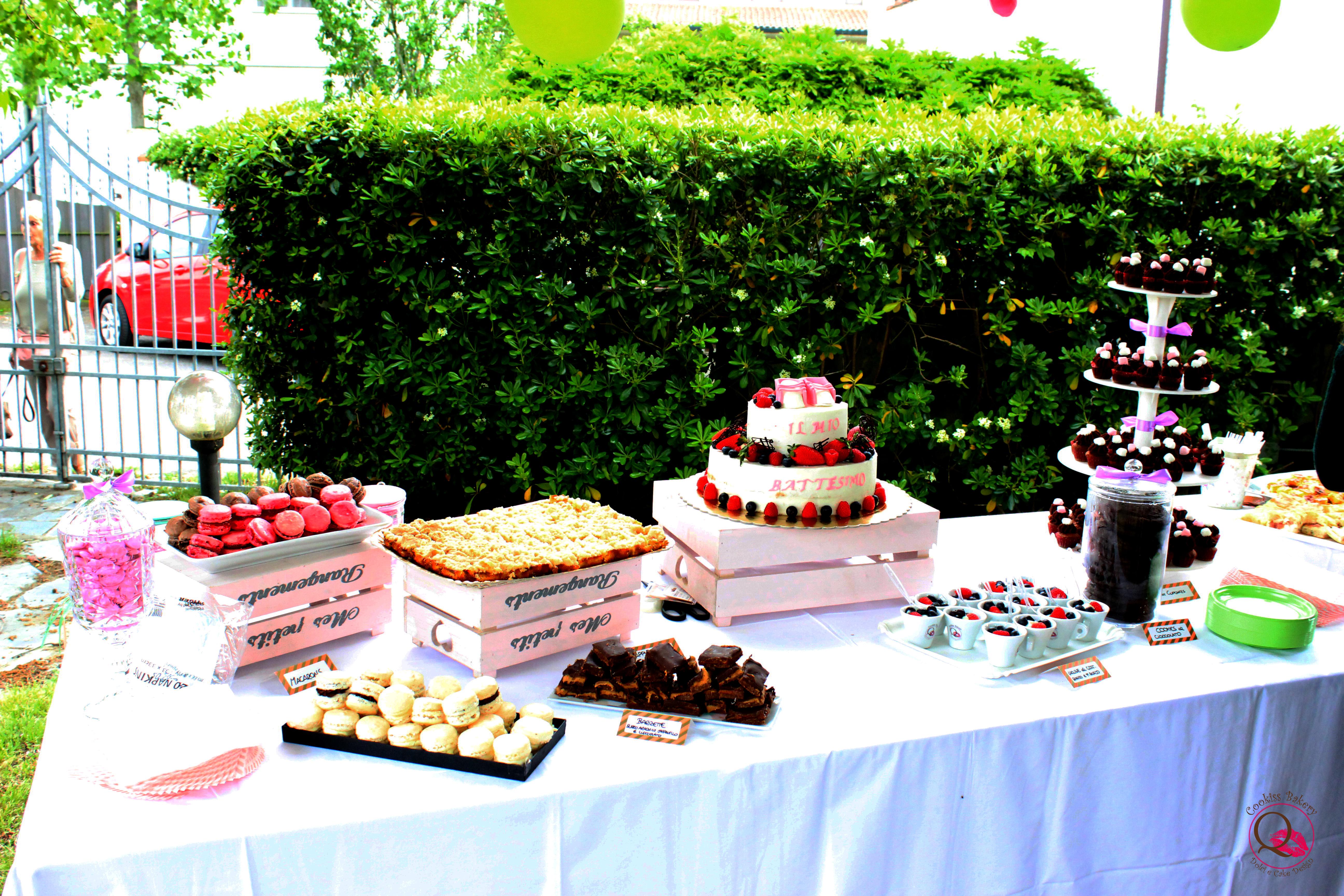 Buffet Di Dolci Battesimo : Il battesimo di elena il buffet dolce cookiss bakery