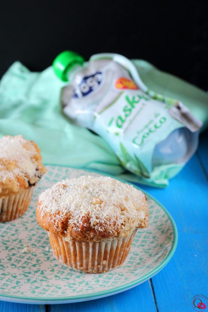 Muffins al cocco e cioccolato senza zucchero