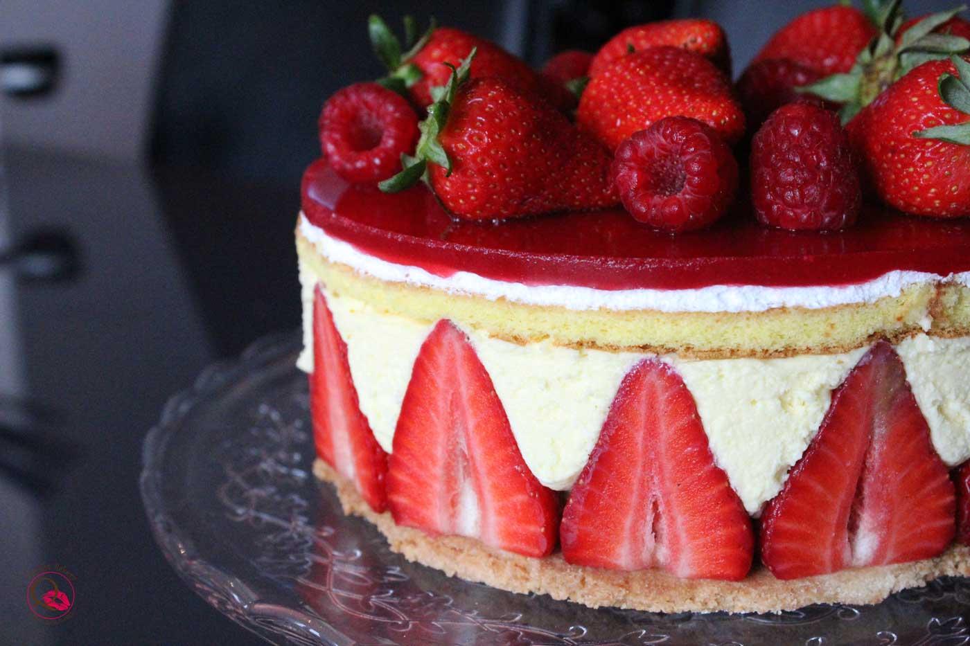 torrta fraisier di lato
