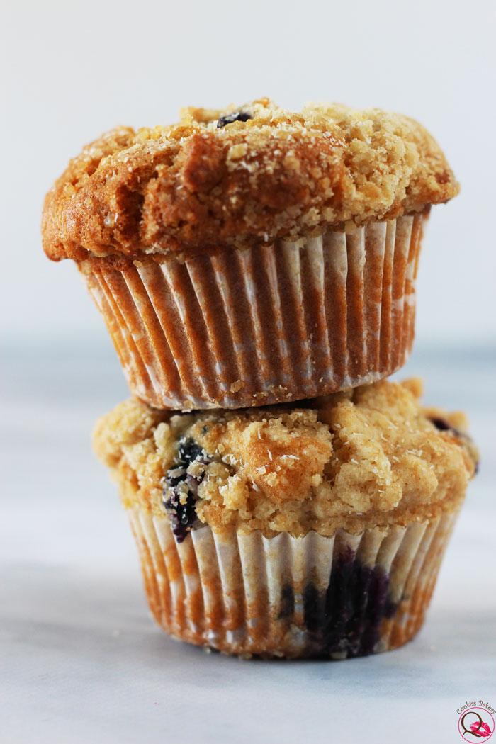 Muffins americani ai mirtilli fila