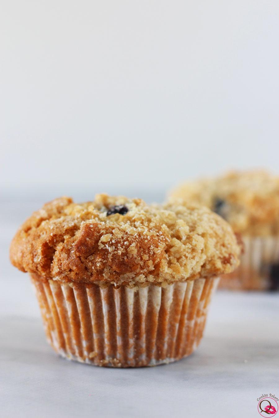 Muffins americani ai mirtilli singolo