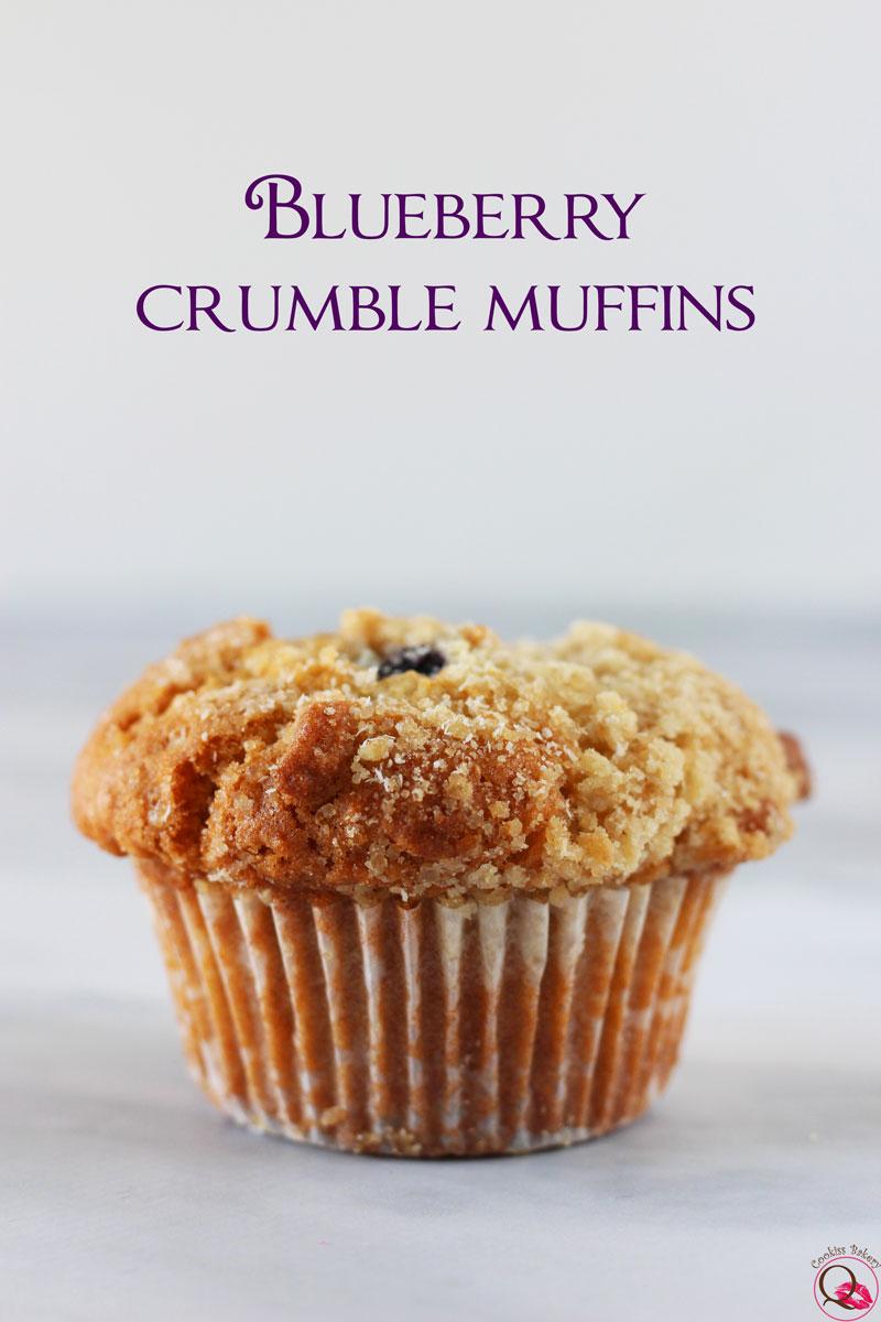 Muffins americani ai mirtilli
