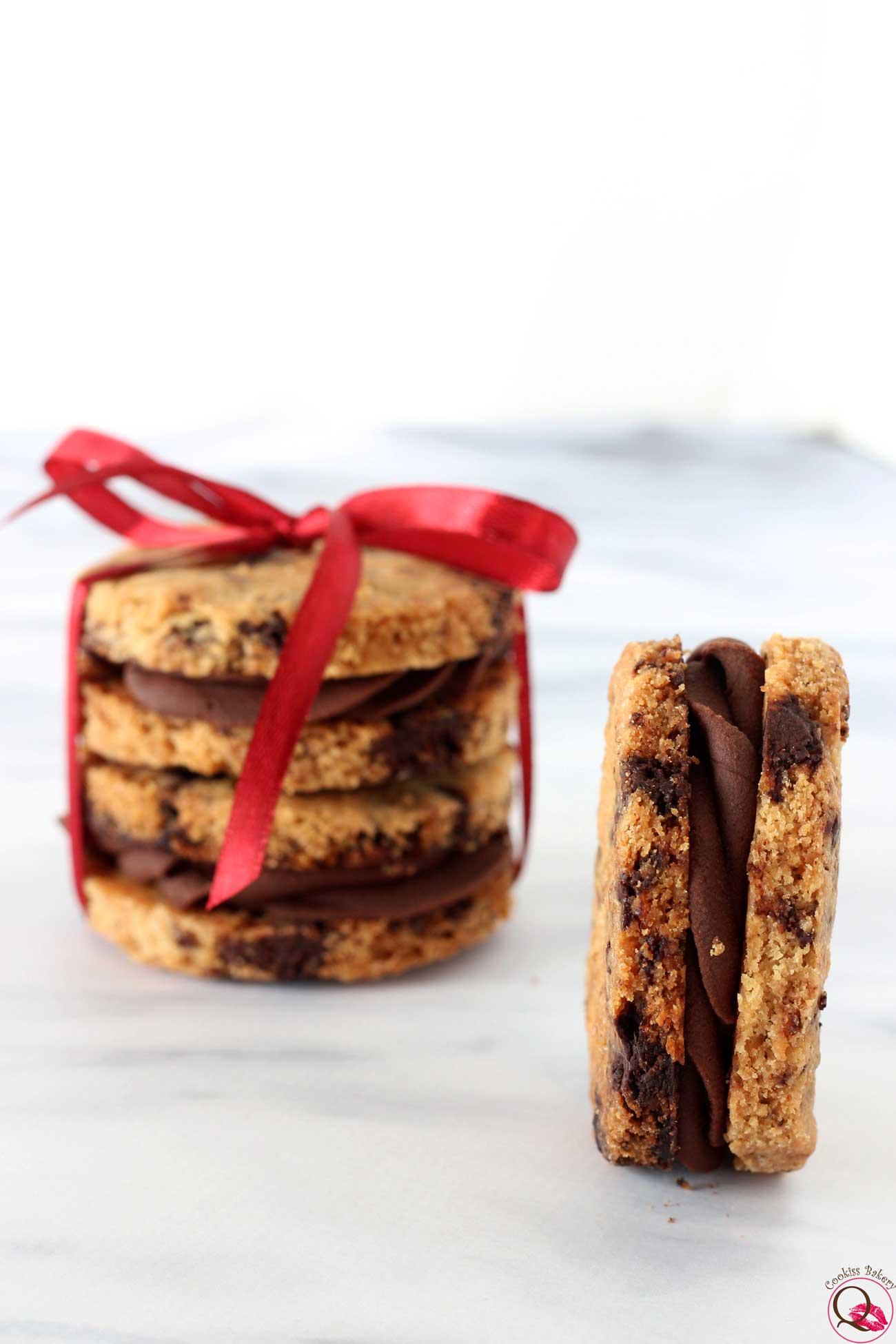 biscotto al burro con crema al cioccolato fondente regalo