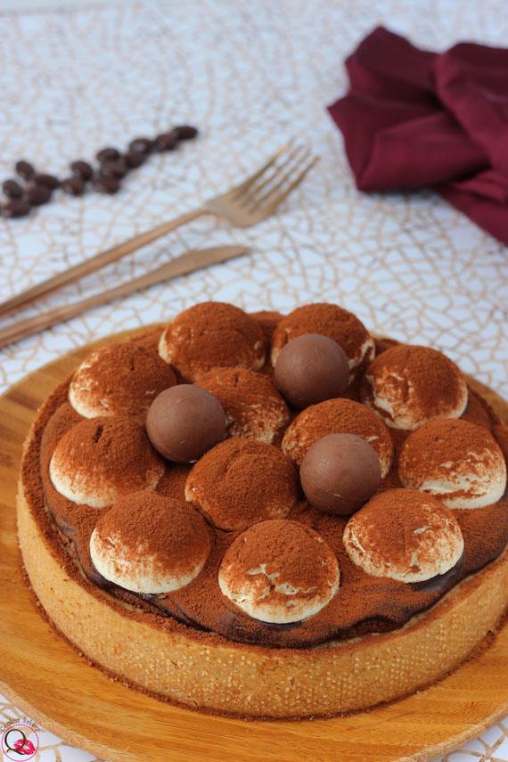 crostata tiramisu al cioccolato verticale