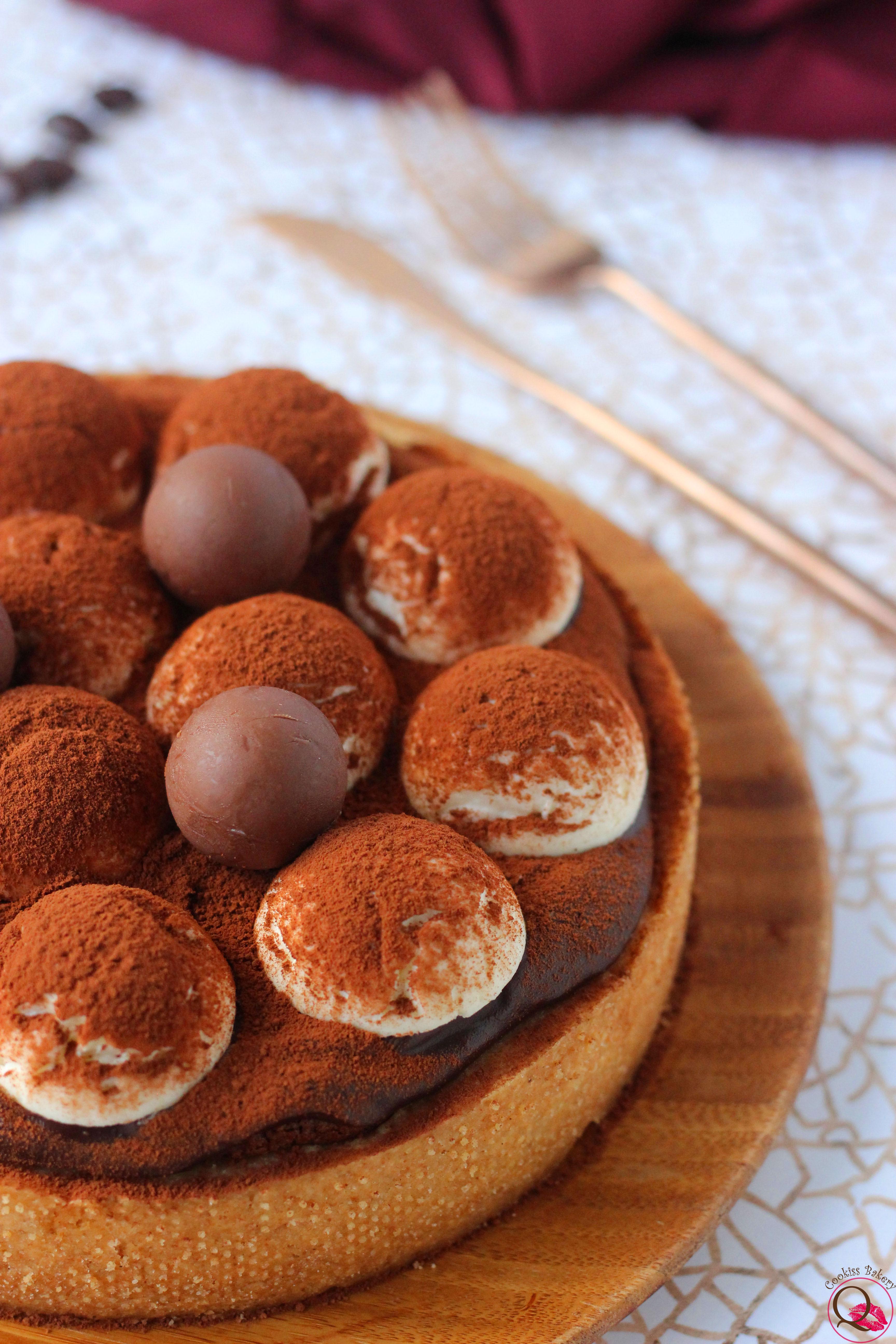crostata tiramisu al cioccolato particolare
