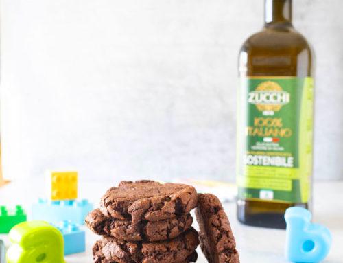 Ricetta biscotti brownie al cioccolato e olio d'oliva